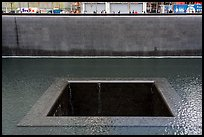 Pools and waterfalls,  September 11 Memorial. NYC, New York, USA ( color)