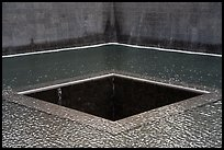 Pools representing footprint of tower, 9/11 Memorial. NYC, New York, USA ( color)