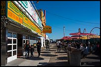 Nathans, Coney Island. New York, USA ( color)