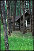 Cabins in Custer State Park. Black Hills, South Dakota, USA (color)
