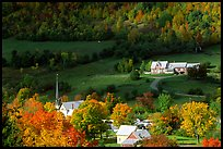 East Orange village in autumn. Vermont, New England, USA ( color)