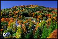 East Topsham village in fall. Vermont, New England, USA