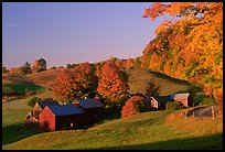 Jenne Farm, sunrise. Vermont, New England, USA