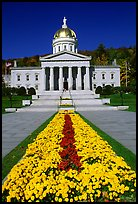 State House, Montpellier. Vermont, New England, USA (color)
