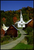 Waits River church. Vermont, New England, USA ( color)