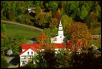 Red roofs in East Topsham village. Vermont, New England, USA ( color)