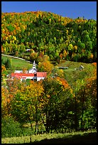 East Topsham village with fall foliage. Vermont, New England, USA ( color)