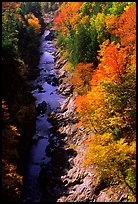 Quechee Gorge in fall. Vermont, New England, USA