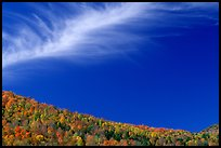Hills and cloud, Green Mountains. Vermont, New England, USA (color)