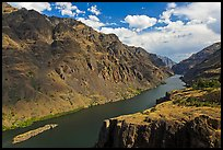 Snake River winding through deep canyon. Hells Canyon National Recreation Area, Idaho and Oregon, USA ( color)