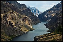 Snake River Gorge. Hells Canyon National Recreation Area, Idaho and Oregon, USA ( color)