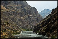 Basalt cliffs. Hells Canyon National Recreation Area, Idaho and Oregon, USA ( color)