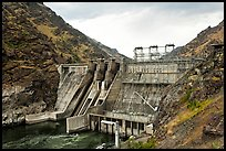 Hells Canyon Dam. Hells Canyon National Recreation Area, Idaho and Oregon, USA ( color)