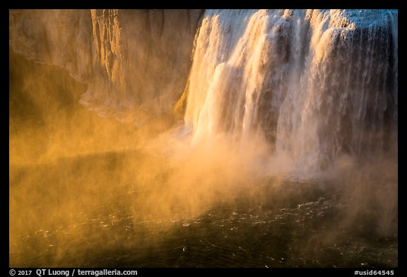 Bridal Veil Falls at sunset. Idaho, USA (color)