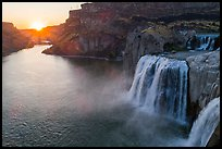 Shoshone Falls with sun setting. Idaho, USA ( color)