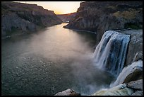 Shoshone Falls and Snake River at sunset. Idaho, USA ( color)