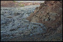 Hardened lava flow inside North Crater. Craters of the Moon National Monument and Preserve, Idaho, USA ( color)