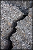 Close-up of crack in lava. Craters of the Moon National Monument and Preserve, Idaho, USA ( color)
