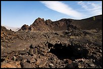 Lava tube opening inside North Crater. Craters of the Moon National Monument and Preserve, Idaho, USA ( color)