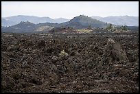 Field of broken lava near Broken Top. Craters of the Moon National Monument and Preserve, Idaho, USA ( color)