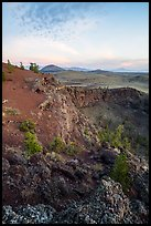 Echo Crater and Big Cinder Butte. Craters of the Moon National Monument and Preserve, Idaho, USA ( color)