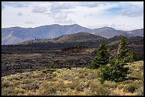 Blue Dragon Flow and Big Sink. Craters of the Moon National Monument and Preserve, Idaho, USA ( )