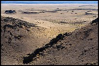 Lava rocks on breach of Bear Den Butte crater. Craters of the Moon National Monument and Preserve, Idaho, USA ( color)