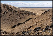 Bear Den Butte crater breach. Craters of the Moon National Monument and Preserve, Idaho, USA ( )