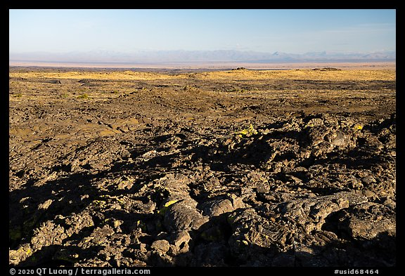 Immense Wapi lava flow and Snake River Plain. Craters of the Moon National Monument and Preserve, Idaho, USA (color)