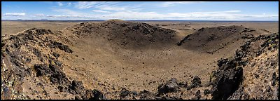 Bear Den Butte. Craters of the Moon National Monument and Preserve, Idaho, USA (Panoramic color)