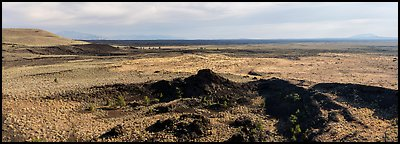 Snake River Plain with lava flows. Craters of the Moon National Monument and Preserve, Idaho, USA (Panoramic )