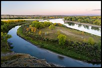 Confluence of the Marias and Missouri Rivers. Upper Missouri River Breaks National Monument, Montana, USA ( color)