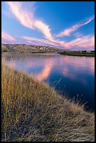 Brilliant clouds at dawn, Wood Bottom. Upper Missouri River Breaks National Monument, Montana, USA ( color)