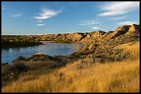 Bluffs above Wood Bottom. Upper Missouri River Breaks National Monument, Montana, USA ( color)