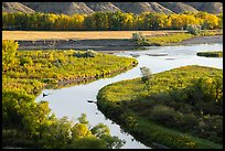 Arm of the Missouri River and the Marias River. Upper Missouri River Breaks National Monument, Montana, USA ( color)