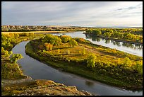 Lewis and Clark Decision Point, early morning. Upper Missouri River Breaks National Monument, Montana, USA ( color)