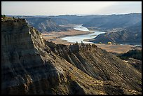 Cliffs and Missouri River valley. Upper Missouri River Breaks National Monument, Montana, USA ( color)
