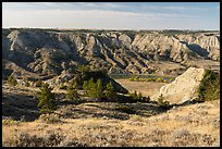 Prairie and badlands along the Missouri River. Upper Missouri River Breaks National Monument, Montana, USA ( color)