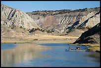 McClelland Stafford Ferry, River, and badlands. Upper Missouri River Breaks National Monument, Montana, USA ( color)