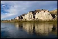 Sandstone white cliffs reflected. Upper Missouri River Breaks National Monument, Montana, USA ( color)