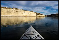 White cliffs seen from kayak. Upper Missouri River Breaks National Monument, Montana, USA ( color)