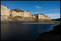 Moonlight over White cliffs. Upper Missouri River Breaks National Monument, Montana, USA ( )