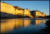 White cliffs at sunrise. Upper Missouri River Breaks National Monument, Montana, USA ( )
