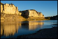 White cliffs from Eagle Creek at sunrise. Upper Missouri River Breaks National Monument, Montana, USA ( color)