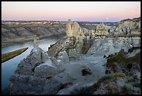 View from Hole-in-the-Wall at twilight. Upper Missouri River Breaks National Monument, Montana, USA ( color)