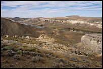 Cliffs and river valley. Upper Missouri River Breaks National Monument, Montana, USA ( color)