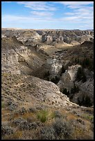 Valley of the Walls canyon. Upper Missouri River Breaks National Monument, Montana, USA ( color)