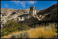 Sandstone pinnacle, Valley of the Walls. Upper Missouri River Breaks National Monument, Montana, USA ( color)