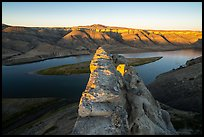 Top of Hole-in-the-Wall rock slab. Upper Missouri River Breaks National Monument, Montana, USA ( color)