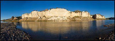 White cliffs. Upper Missouri River Breaks National Monument, Montana, USA (Panoramic color)